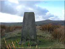 SD8615 : Trig Pillar, Hunger Hill, Rochdale by michael ely