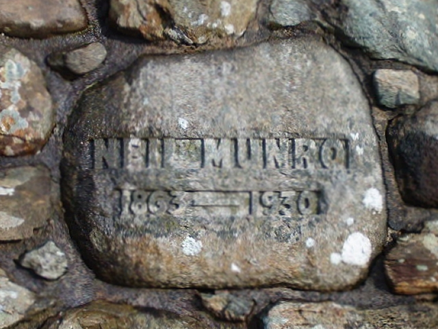 Dedication on the Neil Munro monument
