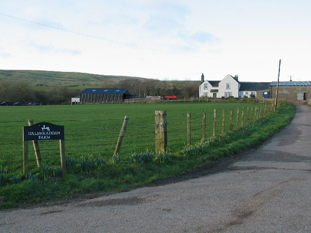 Dalbhraddan Farm off B842 near to Southend.