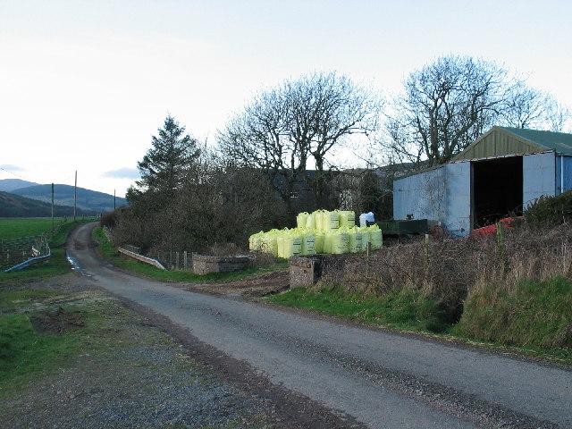 Ormsary Farm in Glen Breackerie by Southend.