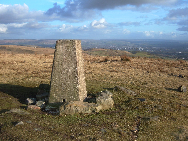 Trig Pillar on Knowl Moor above Norden