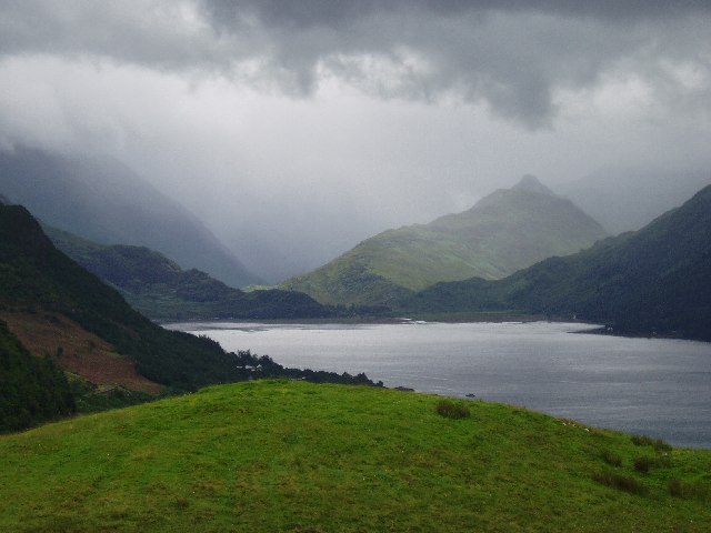 Looking SE down Loch Duich from Carr Brae