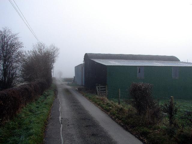 Farm Buildings Beside Lane, Near Caersws