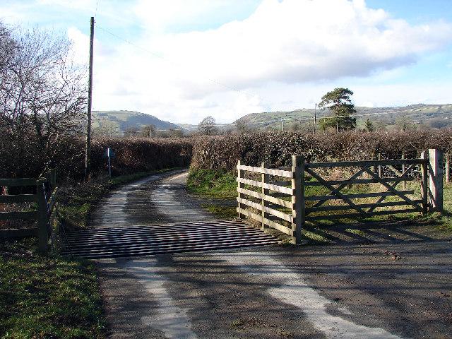 Cattle Grid near Trefeglwys