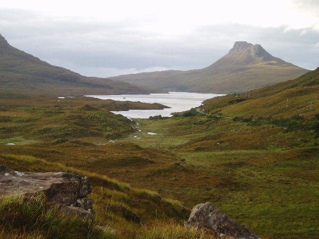 Looking NE over Loch Lurgainn