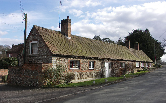 Brick and Flint Cottages, Lower North Dean