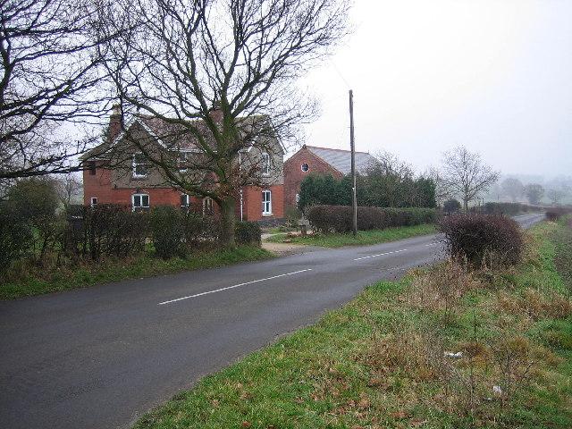 Buildings on Kisses Barn Lane