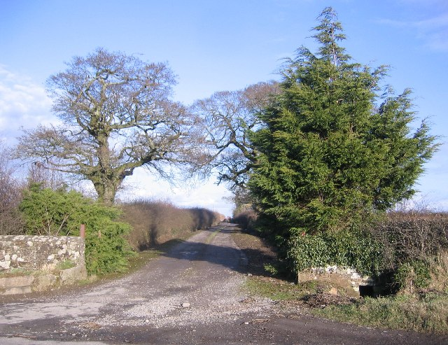 A farm entrance at Sleightholme.