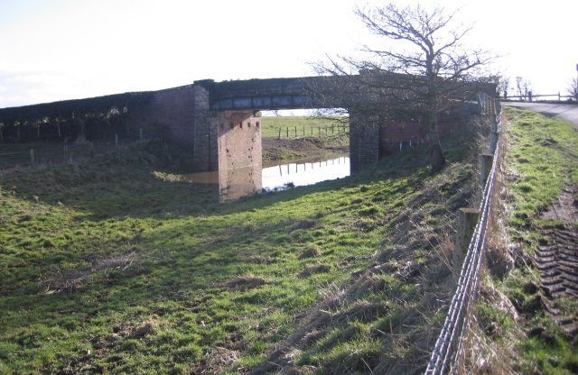 Disused rail bridge near Raby Cote.