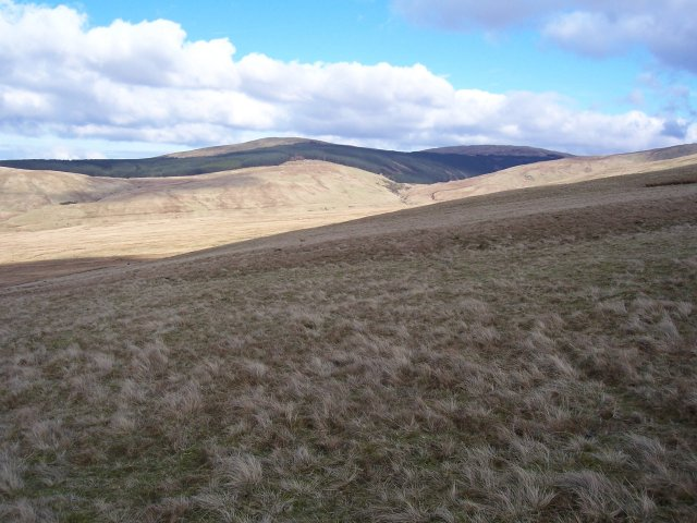 River Calder catchment area from lower slopes of Latter Barrow.