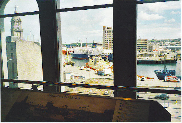 Aberdeen Harbour from the Maritime Museum.