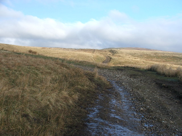 The Pennine Way above Bluebell Hill.