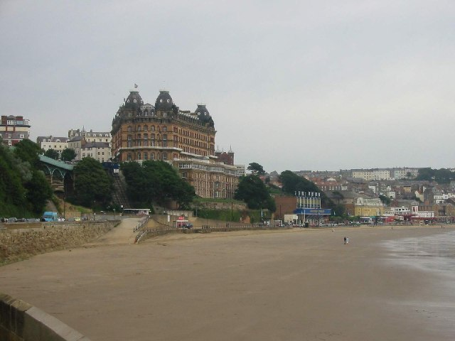Looking across South Sands towards The Grand Hotel
