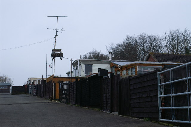 Caravan site on Farringdon Hill