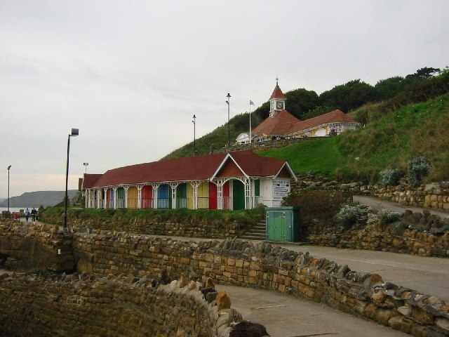 Bathing huts and cafe South Shore