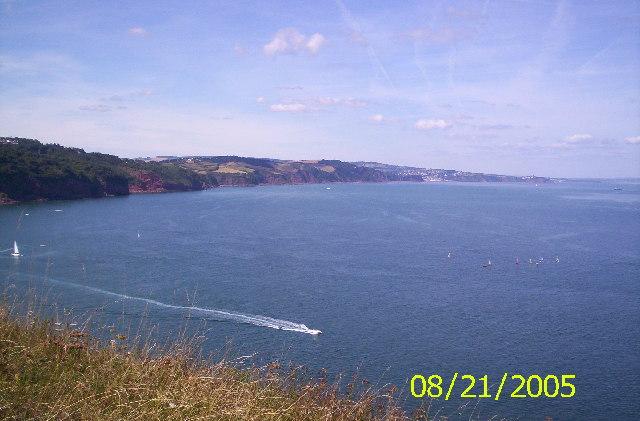 Devon Coastline from Babbacombe towards Exmouth