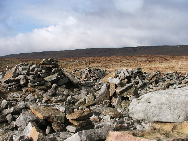 Piles of stones on Stony Edge.