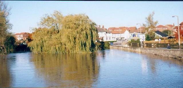 The Ure in flood at Boroughbridge