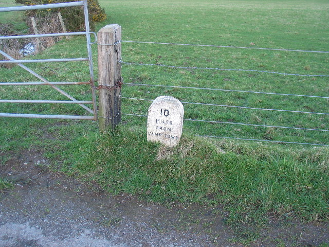 Milestone near to Southend, South Kintyre