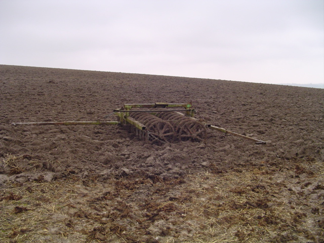 Farm machinery in mud, Redhorn Hill