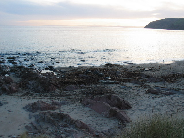 Carskey Bay shoreline.