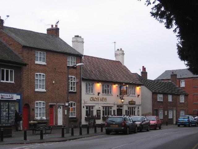 Burbage, Cross Keys Pub and environs