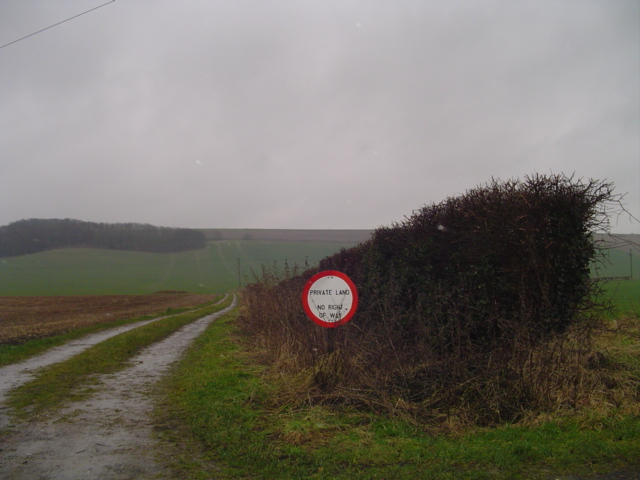 Farm Track onto Salisbury Plain