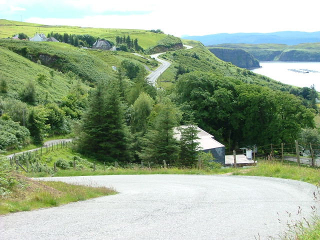 Hairpin bend on the Sheader Road