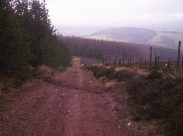 Steep Track Down Strathfinella Hill