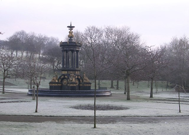 Frosty morning in Alexandra Park