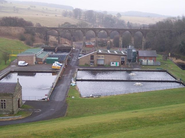Disused Railway Viaduct &amp; Water Treatment Works, Fontburn, Northumberland.