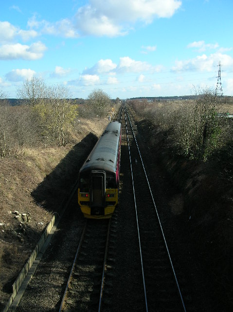 Garforth - Micklefield Railway from Ridge Bridge