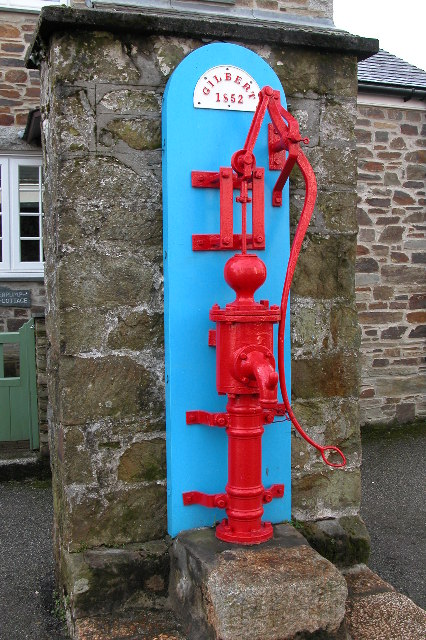 Old water pump in Mylor Bridge