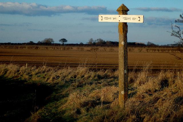 Peddars Way ( Ancient Track ) Signpost.