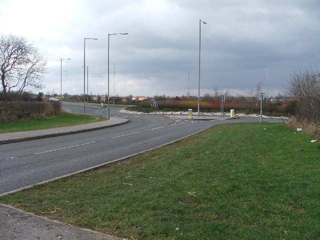 Roundabout on the Normanton bypass.