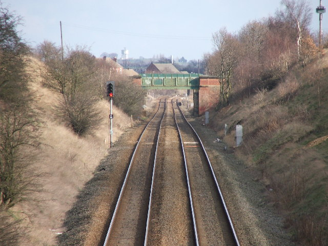 Railway near Sharlston Common.