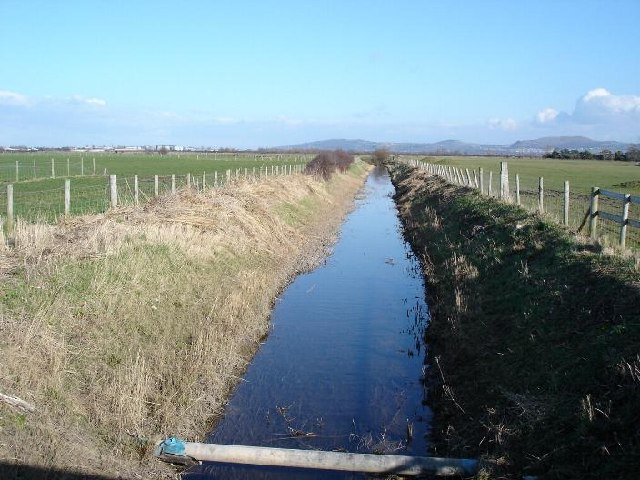 Drainage ditch at Gors
