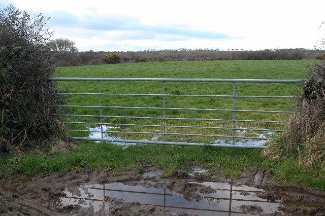 Gate into a field, near Ponsongath