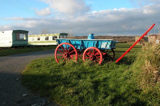 Cart on a caravan site near Trevothen, Coverack