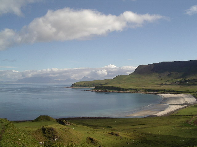 Laig Beach from above Laig farm