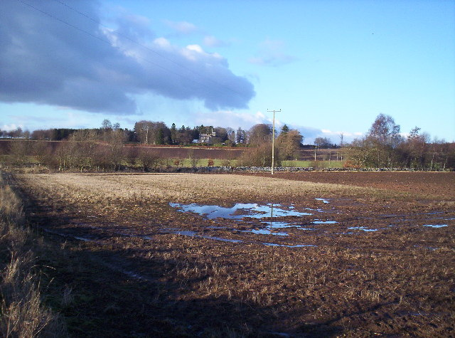 Wet Field with Turin House Behind