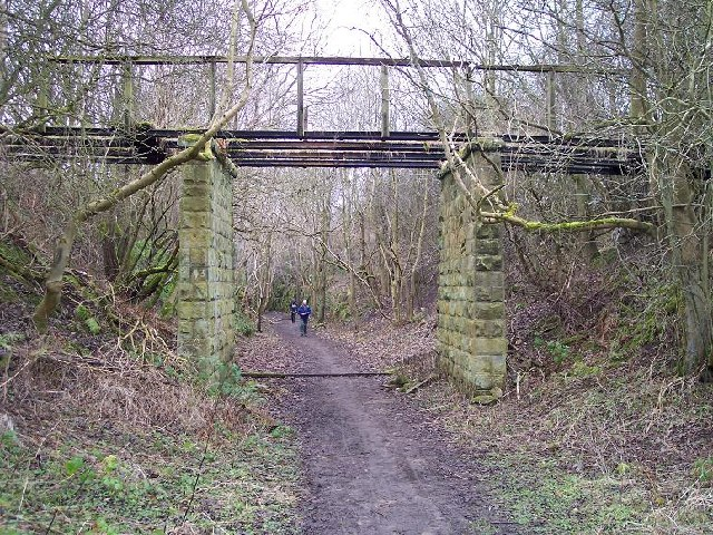 Disused railway approaching Rothbury, Northumberland