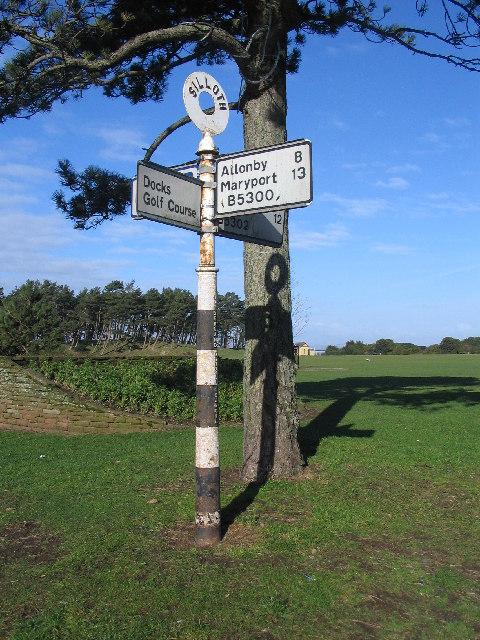 Signpost at Silloth