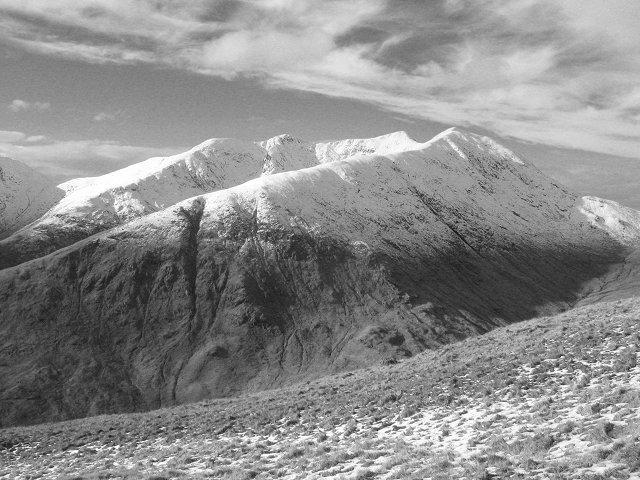 Ben Cruachan from the south ridge of Beinn Eunaich.