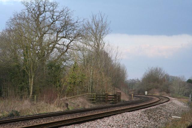Sampford Arundel: railway near Whiteball Tunnel