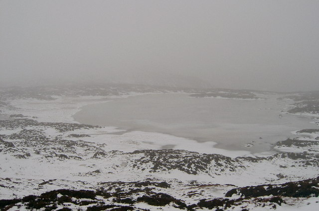 Loch Esk in the rain, snow and mist - you've got to love Scotland!