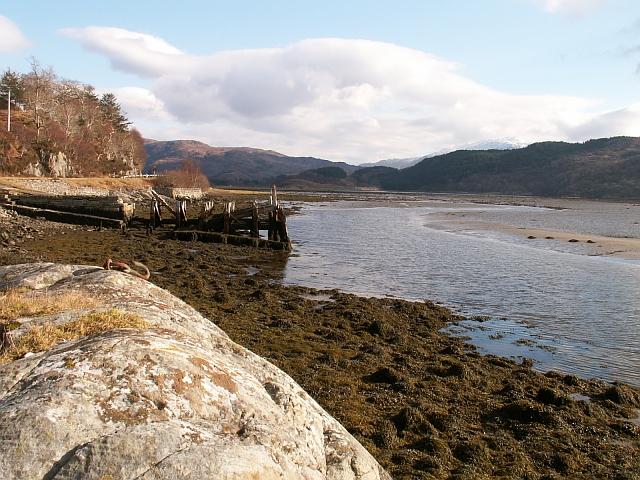 Old jetty by Kinlochmoidart