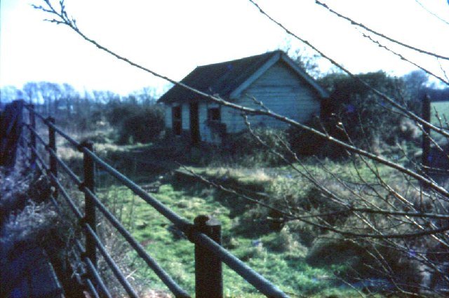 Tollesbury station,taken in the 60's,long since demolished