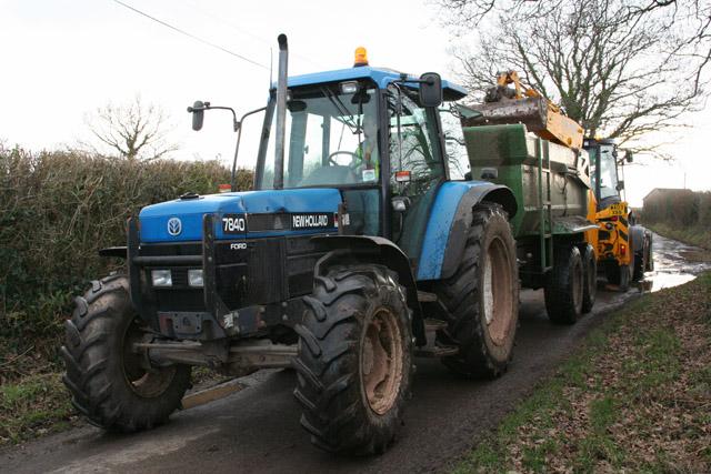 Oake: ditching near Knapp Farm