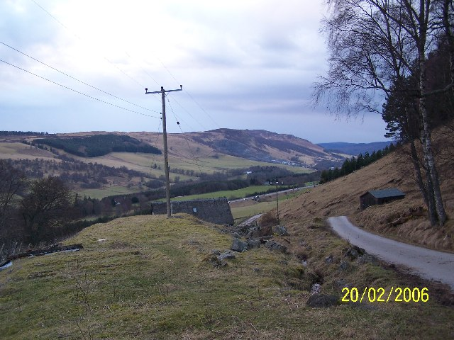 Looking north west towards Blair Atholl